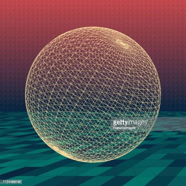 Am Abend abstrakte 3D-Vektor Kugel