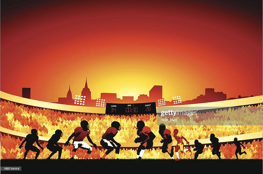 Evening football game