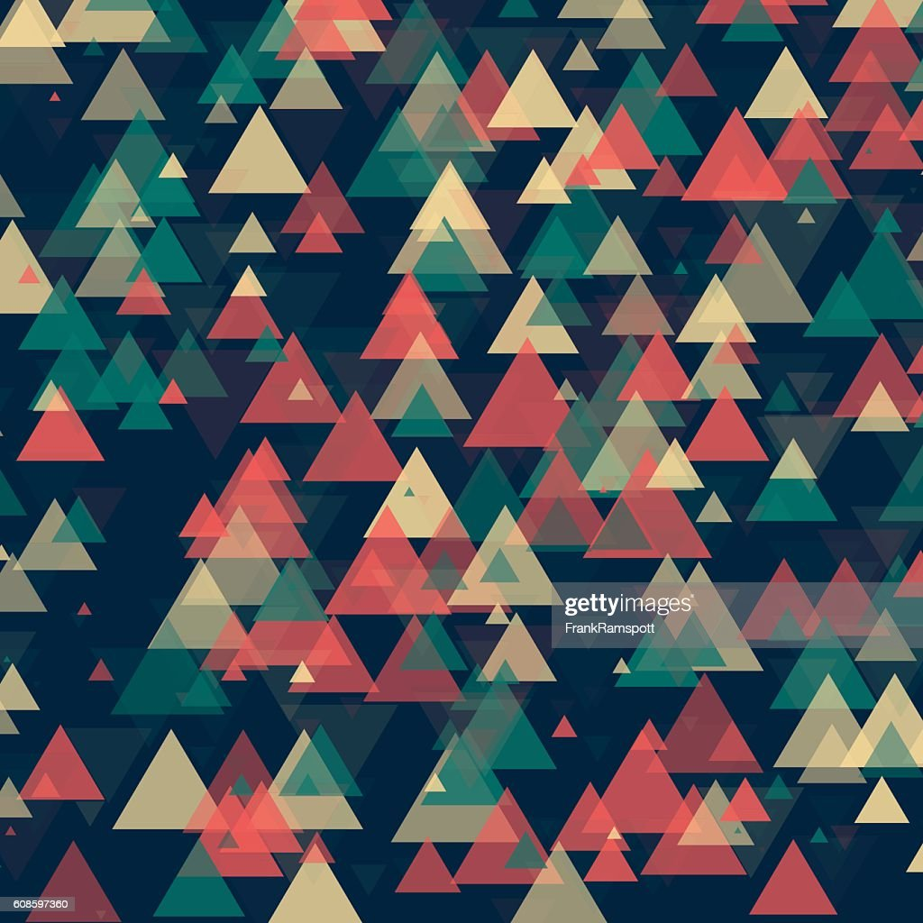 Evening Triangle Geometric Graphic Pattern : Stock-Illustration