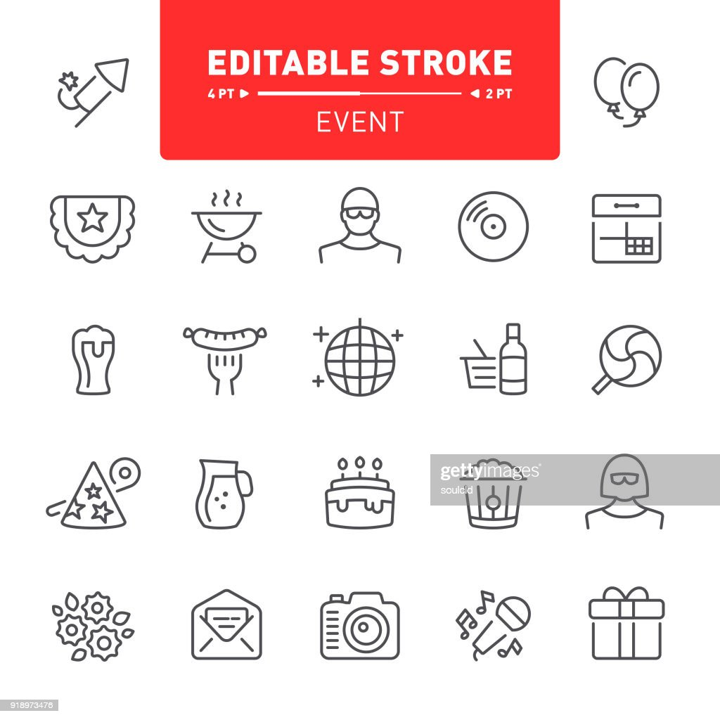 Event Icons : stock illustration