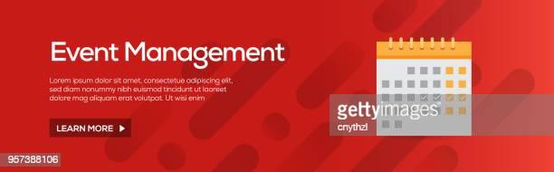 イベント管理フラット Web バナー