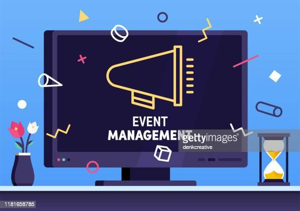 illustrazioni stock, clip art, cartoni animati e icone di tendenza di event management modern flat design concept - wedding planner