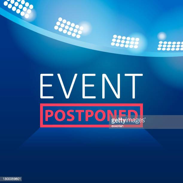 event & show postponed - performing arts center stock illustrations