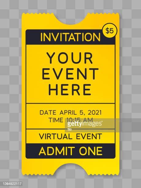 イベントチケットポスター - バーチャルイベント点のイラスト素材/クリップアート素材/マンガ素材/アイコン素材
