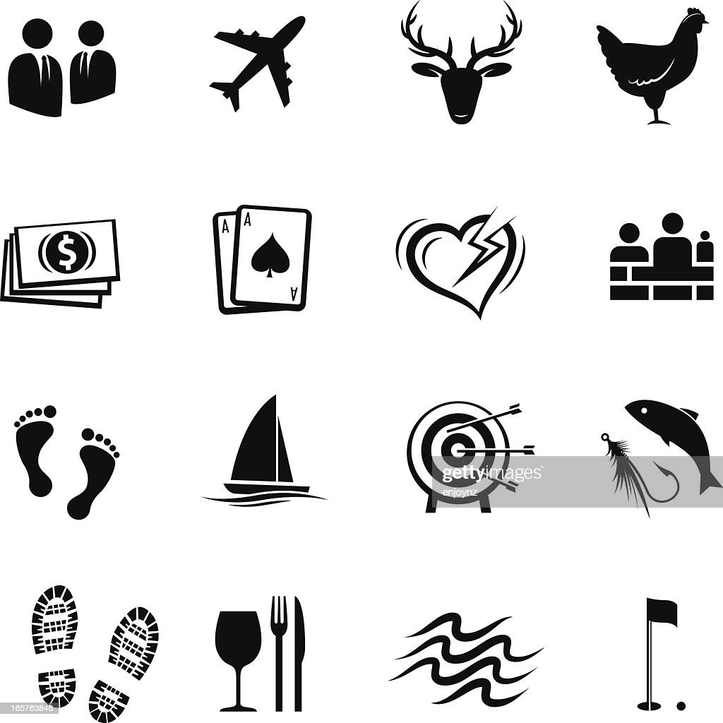 Events and hospitality icons