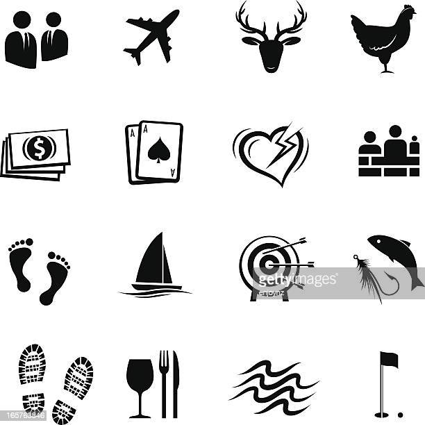 events and hospitality icons - stag night stock illustrations, clip art, cartoons, & icons