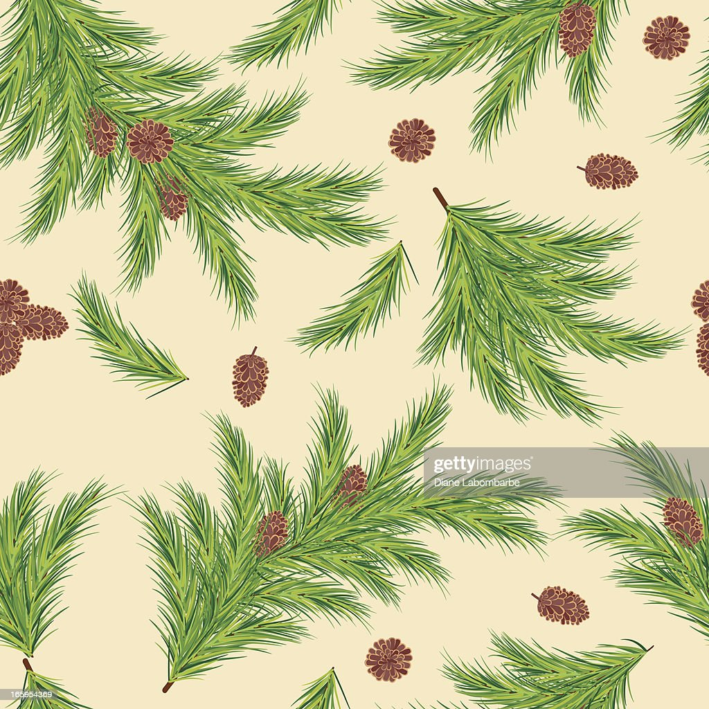 Evergreen Branches Seamless Pattern : stock vector