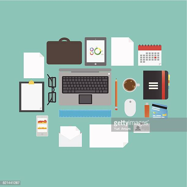 everyday business - bring your own device stock illustrations