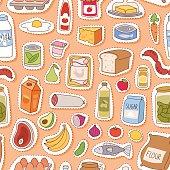 Everyday food seamless pettern vector.