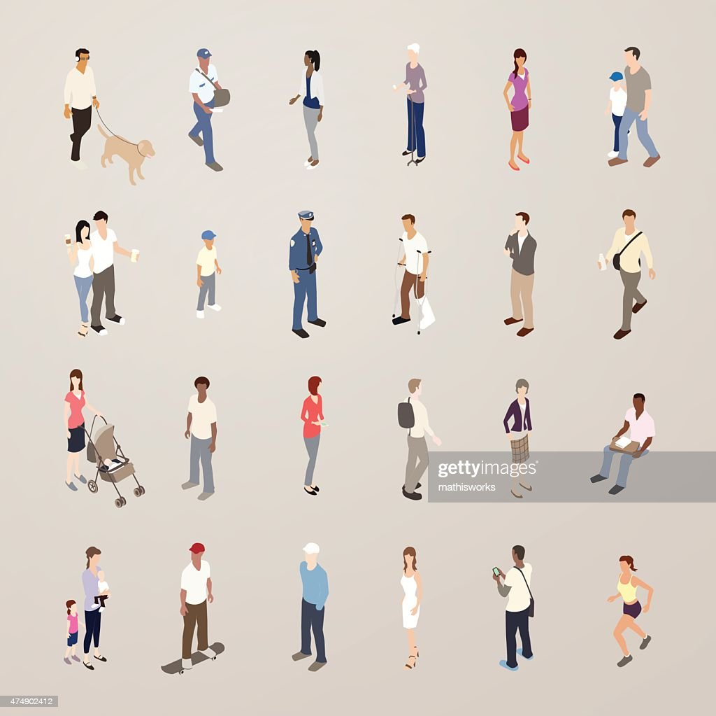 Everyday People - Flat Icons Illustration : Vector Art