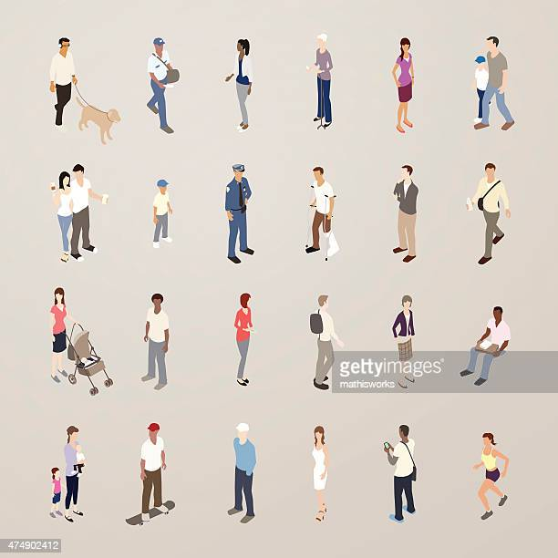 Everyday People - Flat Icons Illustration
