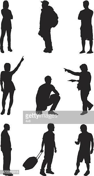 silhouettes d'hommes et de femmes de tous les jours