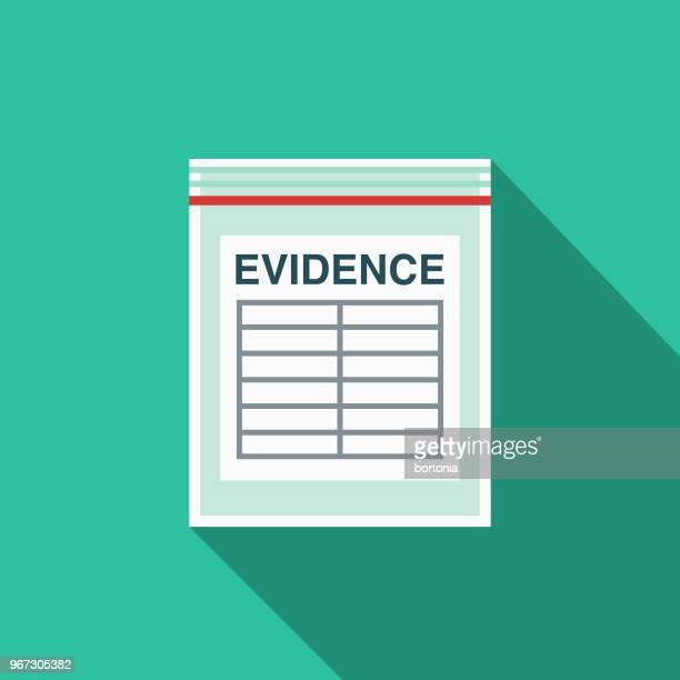 evidence flat design crime & punishment icon - crime scene stock illustrations, clip art, cartoons, & icons