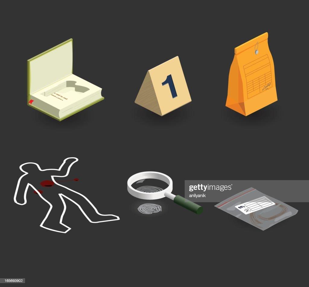 evidence icon set