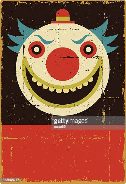 illustrations, cliparts, dessins animés et icônes de mal de clown - clown
