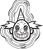 Free download of Evil Clown Coloring Page vector graphics