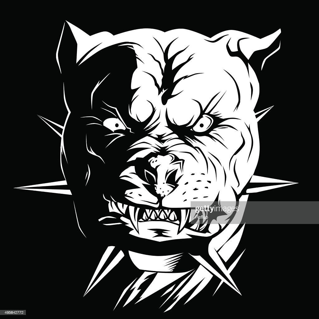 Evil dog pit bull