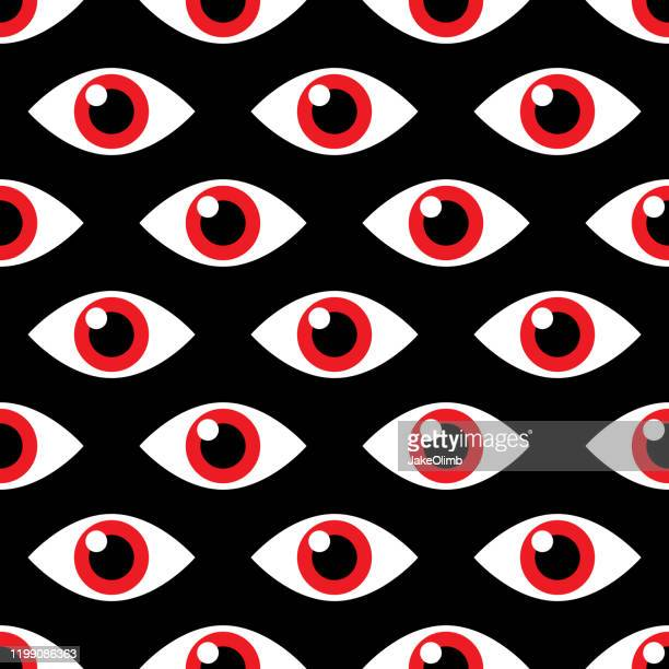 evil eye pattern - hysteria stock illustrations