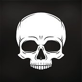 Evil Jolly Roger template. death t-shirt design. Pirate insignia
