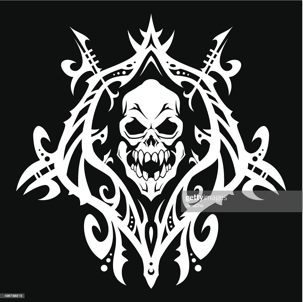 Evil Skull In Frame Vector Art | Getty Images