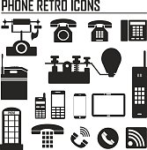 Evolution of phone and communication icons Vector illustration.