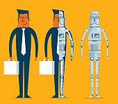 Evolution of robots - Businessman