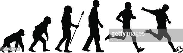 evolution of the soccer player - animal body stock illustrations, clip art, cartoons, & icons