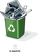 E-Waste in Recycling Bin