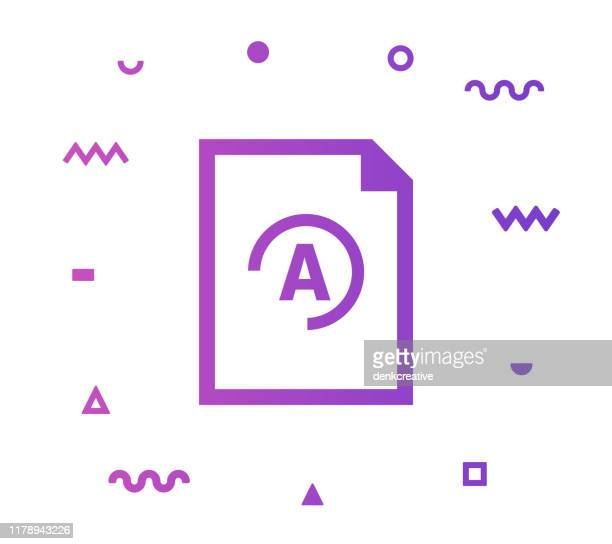 exam grade vector icon line illustration - report card stock illustrations