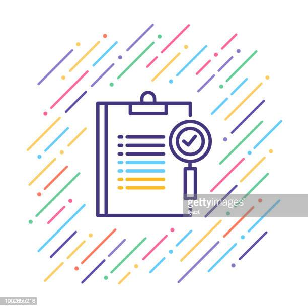 exam line icon - occupational safety and health stock illustrations, clip art, cartoons, & icons