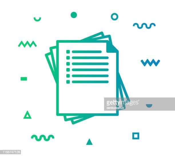 exam line style icon design - schulische prüfung stock-grafiken, -clipart, -cartoons und -symbole