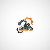 Excavator and Gears, Rental Heavy Equipment.