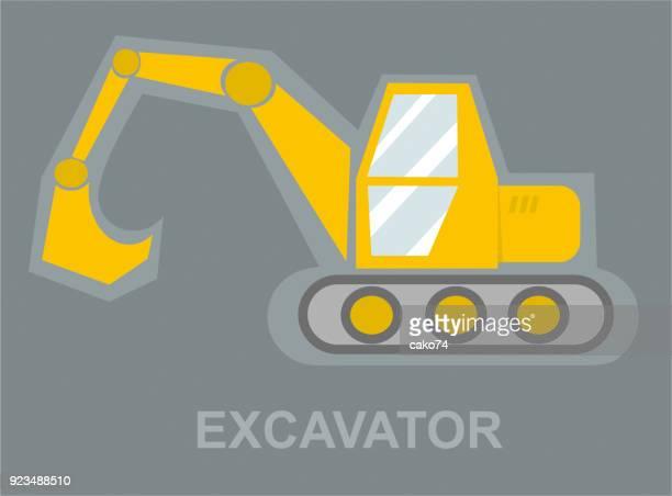 Excavator computer graphic design