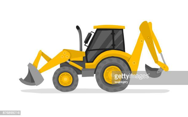excavator, digger, earth mover