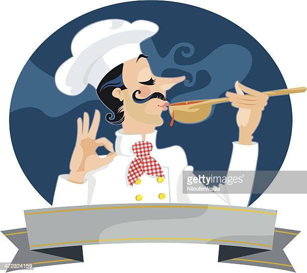 ilustrações, clipart, desenhos animados e ícones de excellento! - chef de cozinha