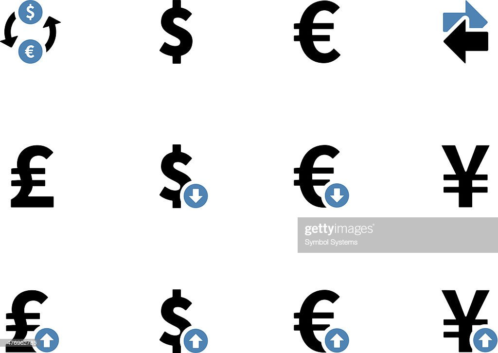 Exchange Rate duotone icons on background
