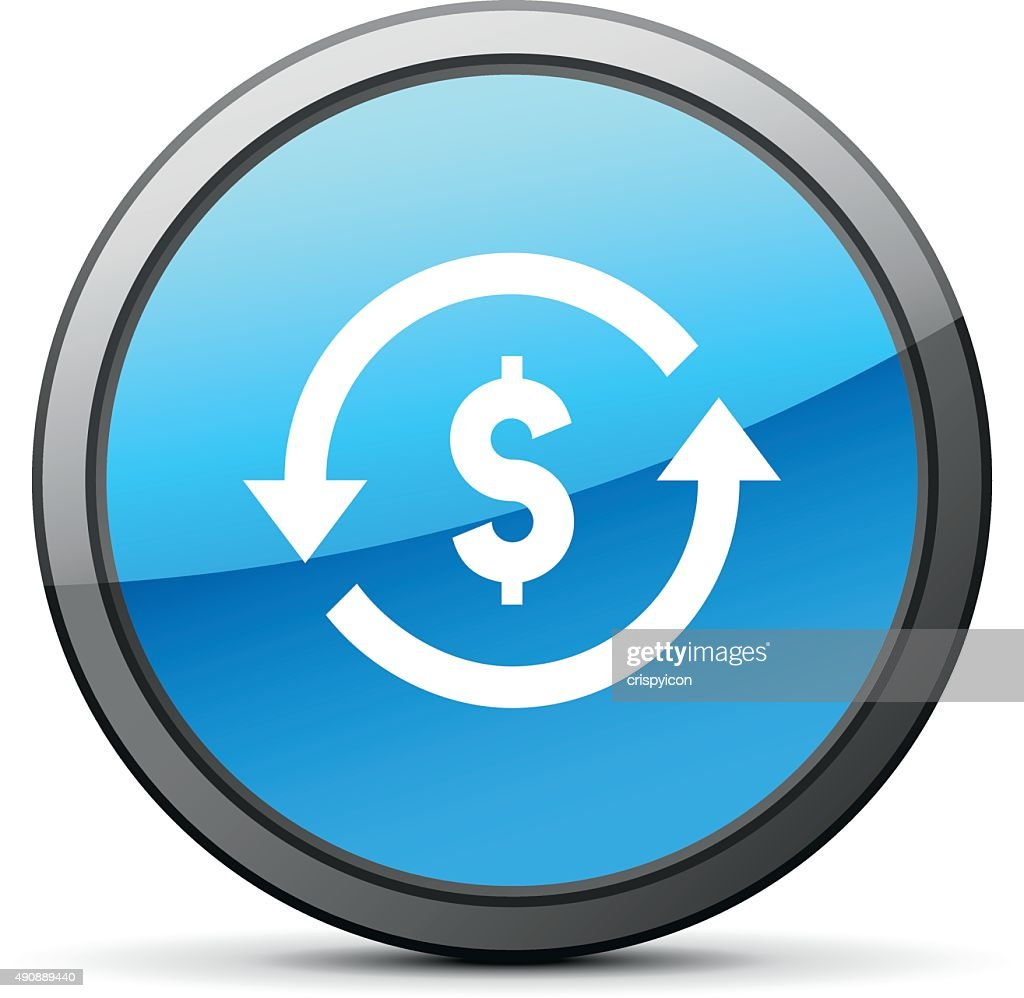 Exchange Rate Icon On A Round Button Brightseries Vector Art Getty