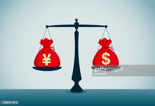 exchange rate - unfairness stock illustrations