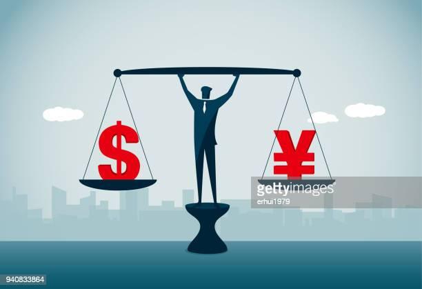 exchange rate - amerikanische währung stock-grafiken, -clipart, -cartoons und -symbole