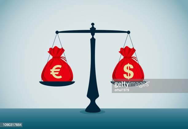 exchanging - money bag stock illustrations