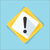 Exclamation Danger sign illustration