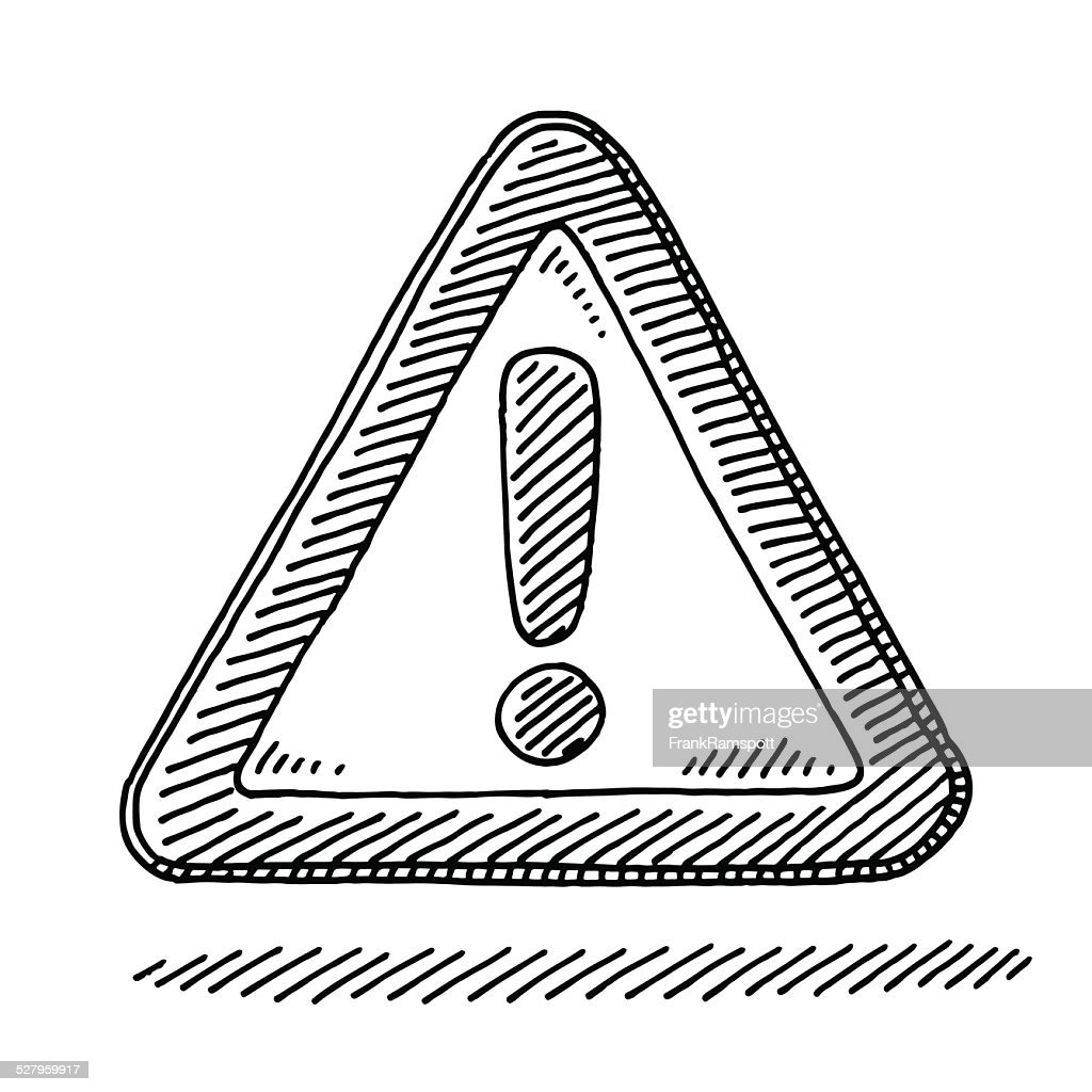 Exclamation Mark Attention Sign Drawing : stock illustration