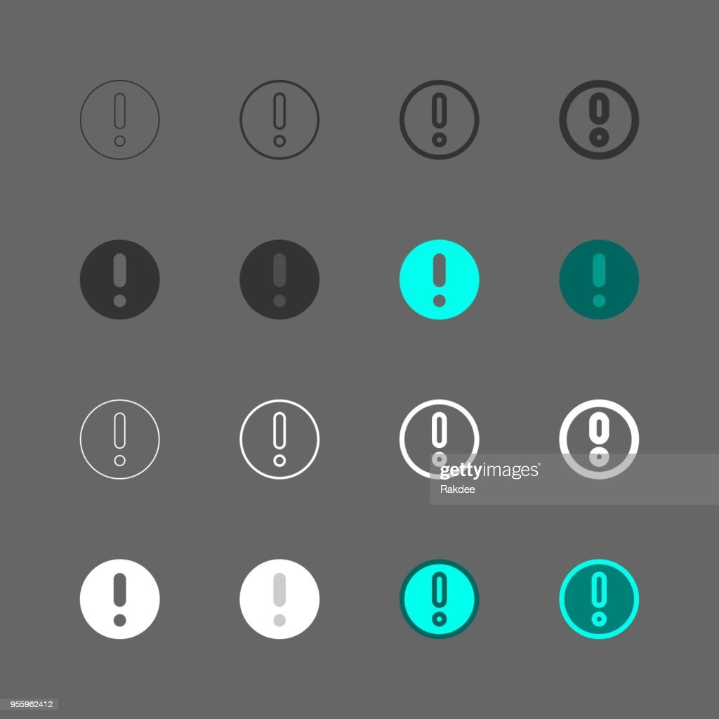 Exclamation Mark Icon - Multi Series