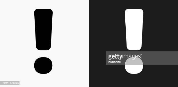 Mark Ausrufezeichen auf schwarz-weiß-Vektor-Hintergründe