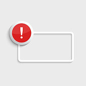 Exclamation mark icon.