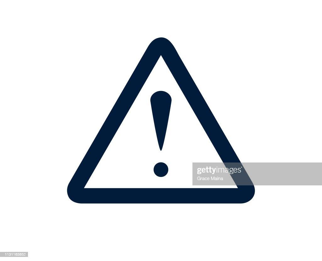Point d'exclamation signe avertissement au sujet d'une urgence : Illustration