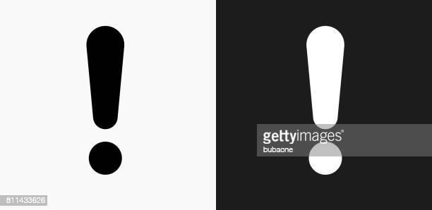 Punkt Ausrufezeichen auf schwarz-weiß-Vektor-Hintergründe