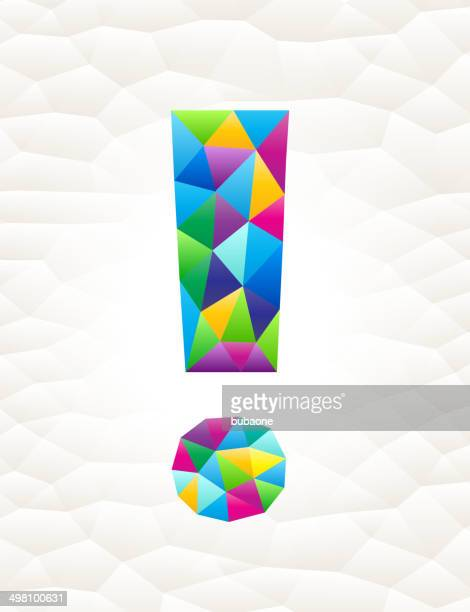 Exclamation Point on triangular pattern mosaic royalty free vector art