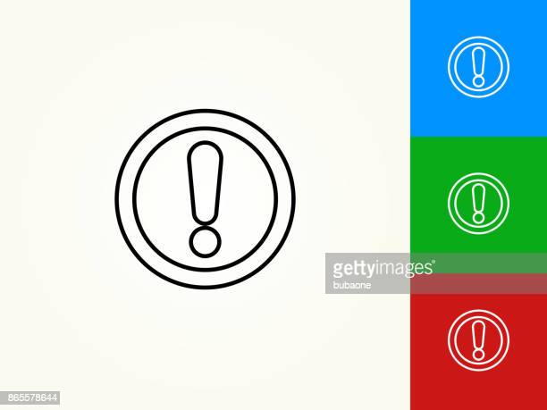 Exclamation Sign Black Stroke Linear Icon