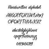 Exclusive Custom Alphabet. Handwritten font. Modern calligraphy. Vector ABC